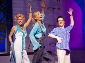 Judy mclane as donna sheridan and lauren cohn as rosie in mamma mia