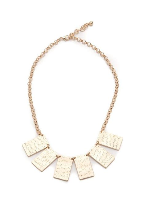 Square Necklace gold square necklace tribal necklace 1970s style choker