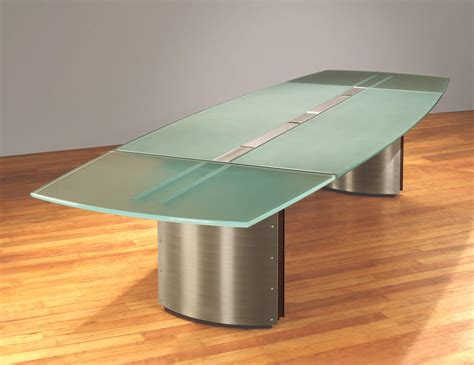 glass top conference tables contemporary boardroom