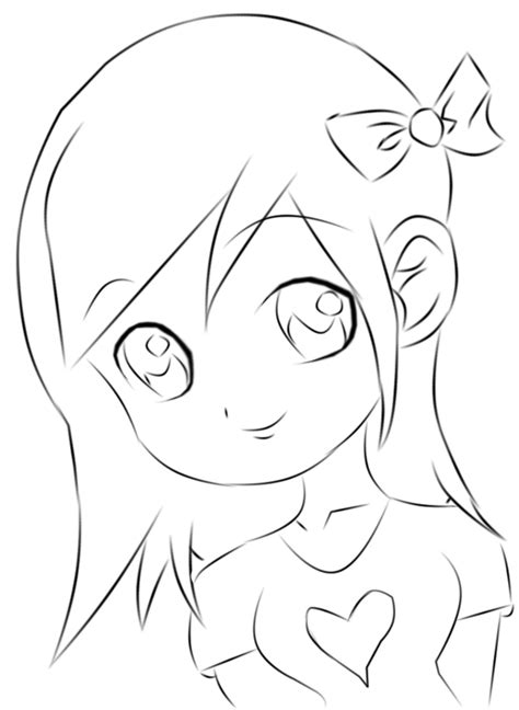 13 Pics of Easy Chibi Girl Coloring Pages - How to Draw Tangled | drawings | Pinterest