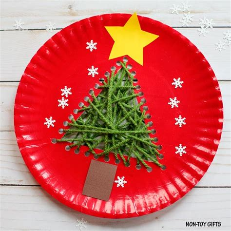 easy paper plate christmas crafts paper plate tree craft for preschooler craft