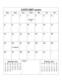 printable  monthly calendar templates calendarlabs