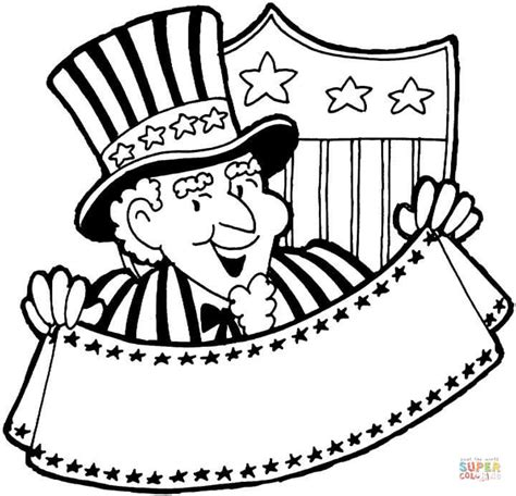 coloring page of uncle sam uncle sam coloring page free printable coloring pages