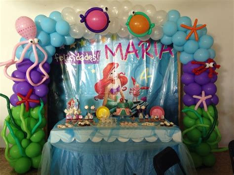 The little mermaid party balloons decorations decoraci 243 n con globos fiesta marina la sirenita