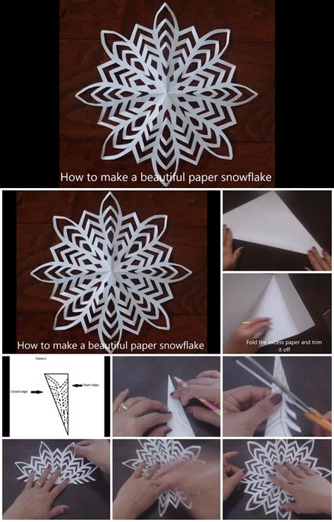 How To Make A Snowflake Out Of Construction Paper - diy single sheet paper snowflake tutorial usefuldiy
