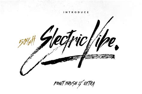 electric brush tattoo electric vibe brush font font fontlot