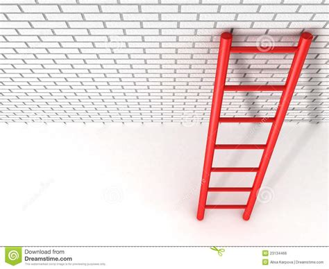 Against A Brick Wall ladder leans against a brick wall royalty free stock