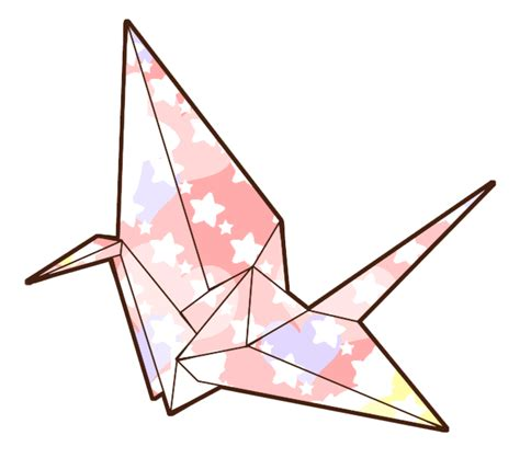 Origami Crane Drawing - paper crane sketch clipart best