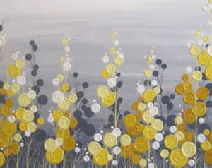 yellow grey mustard yellow and grey wall art 18x24 by murraydesignshop on etsy