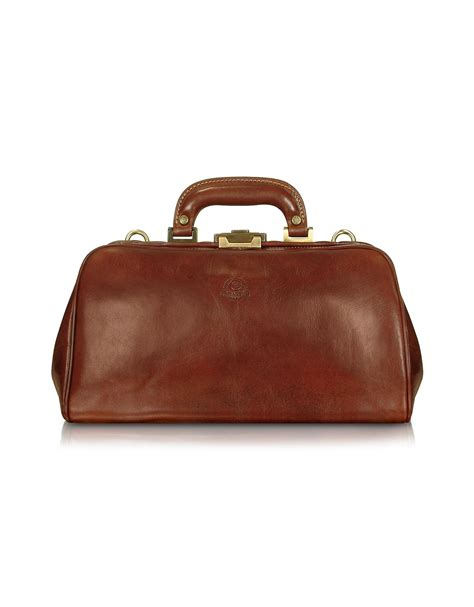 Doctor Bag chiarugi handmade brown genuine leather doctor bag in