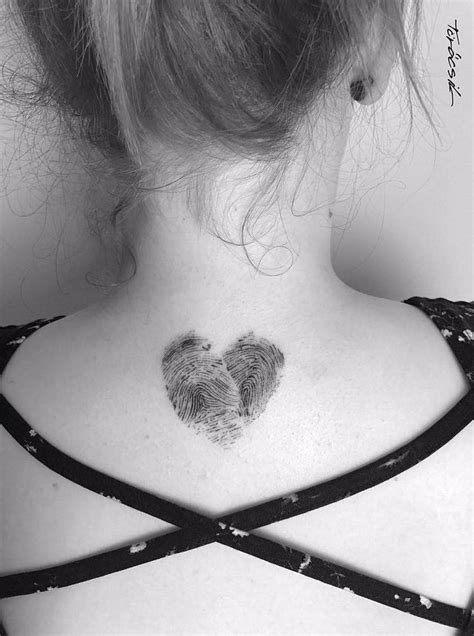 fingerprint tattoo heart best 25 fingerprint tattoos ideas on