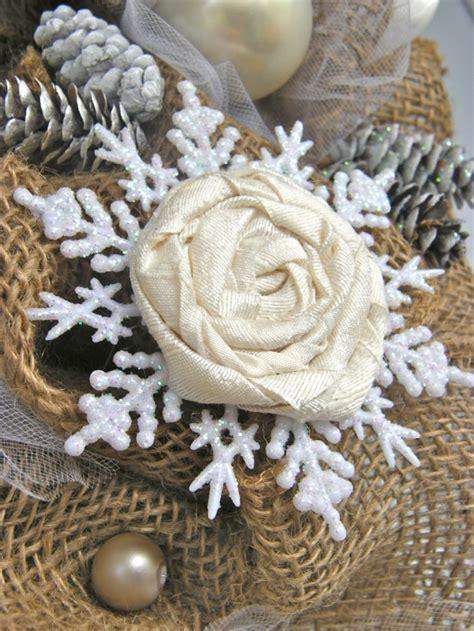 elegant burlap and snowflake wreath fynes designs elegant burlap and snowflake wreath fynes designs