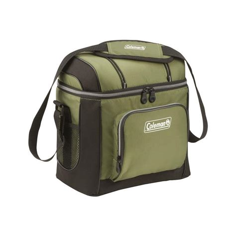 coleman go 16 can soft cooler coleman 16 can green soft sided cooler with liner