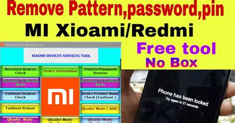 pattern pin or password remove unlock pattern password pin lock all mi redmi