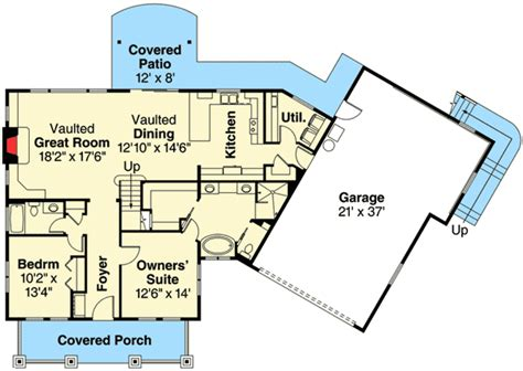 plan of the week angled garages small cottages bonus rooms and plan 72804da 4 bed bungalow with angled garage bungalow