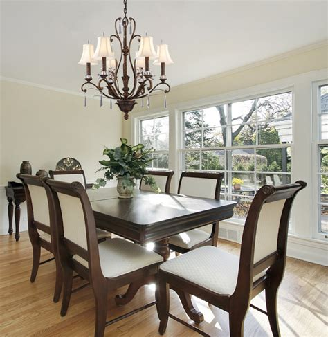 Traditional 6 Light Chandelier In Burnt Bronze Bronze Dining Room Light