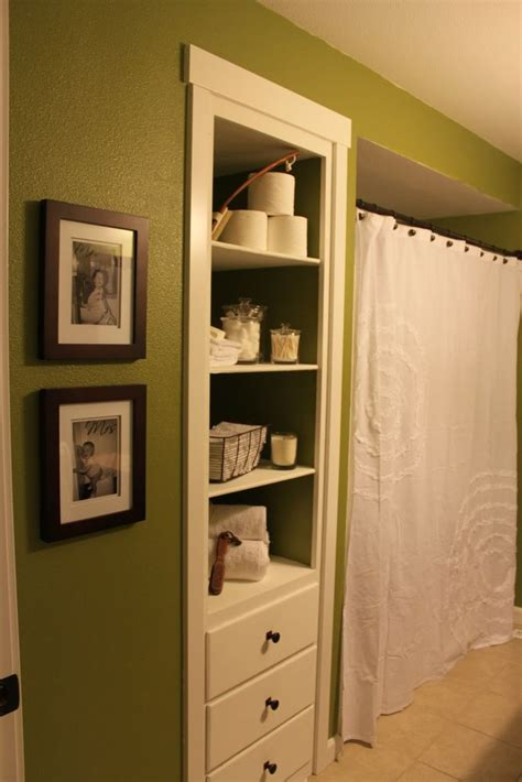 built in wall shelves bathroom pin by julie christine on bathroom