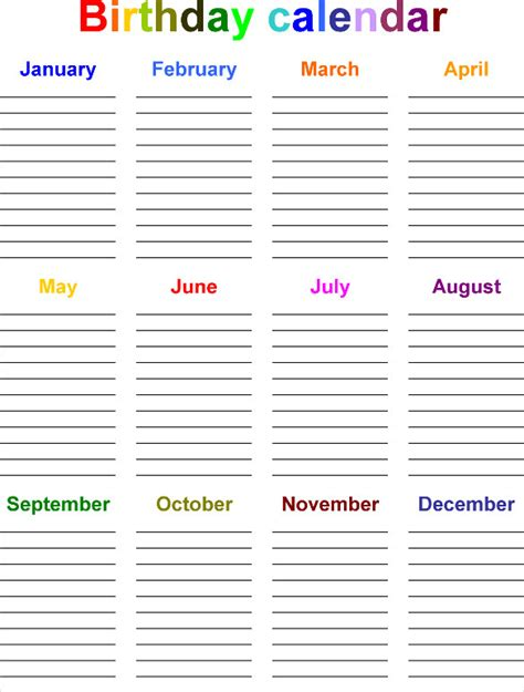 birthday reminder calendar template birthday reminder calendar template 28 of birthday list