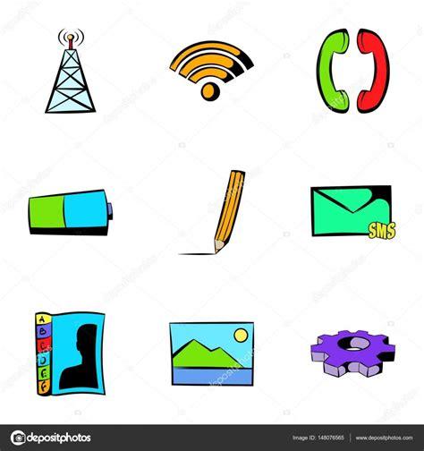 recortar imagenes web conjunto de iconos web tecnolog 237 a estilo de dibujos