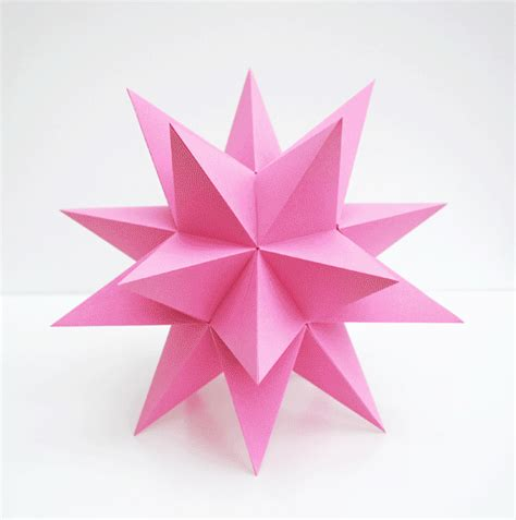 Stellated Dodecahedron Origami - stellated dodecahedrons minieco