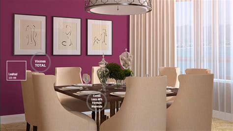 decoracion de espacios  colores magentas comex
