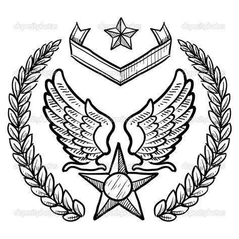 7 images of air force wings coloring page us air force