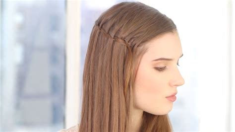 hairstyles how to do a waterfall holiday hairstyle alert here s how to do a waterfall