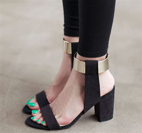 thick heel high heels gold wrap ankle thick high heel sandals on luulla