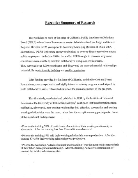 how to write a research summary paper how to write an executive summary for a research