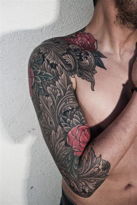 love tattoo upper arm great upper arm sleeve tattoo love the filigree