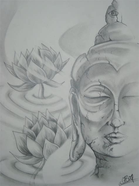 buddha and lotus flowers by asatorarise on deviantart