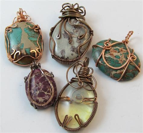 how to make rock jewelry with wire june 2012 dreamcatcher designs