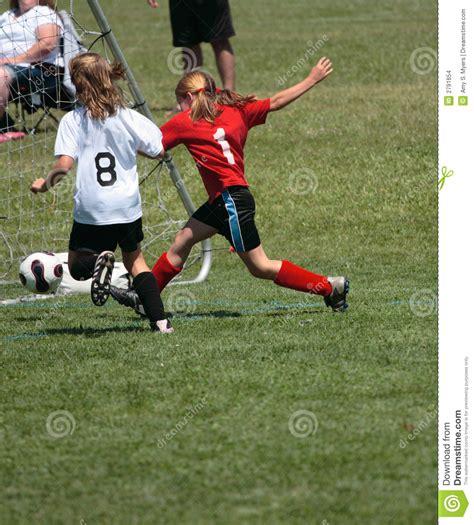 Soccer Kicking Net soccer player kicking goal stock images image 2791654
