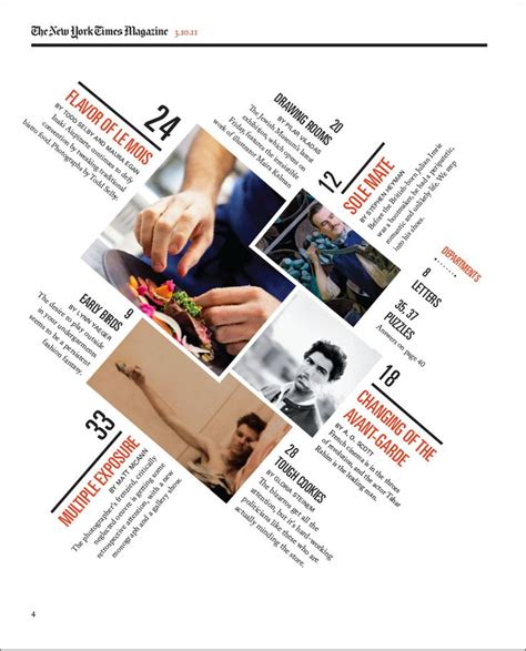 content layout pinterest a redesigned new york times magazine table of contents