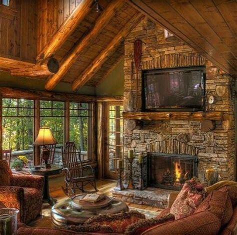 pin  ltrex    home cabin living room cabin