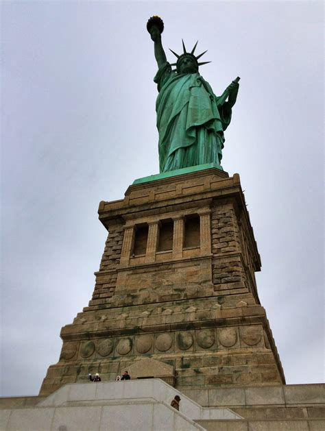 Freiheitsstatue Sockel by A Family Visit To The Statue Of Liberty Traveling Inspired