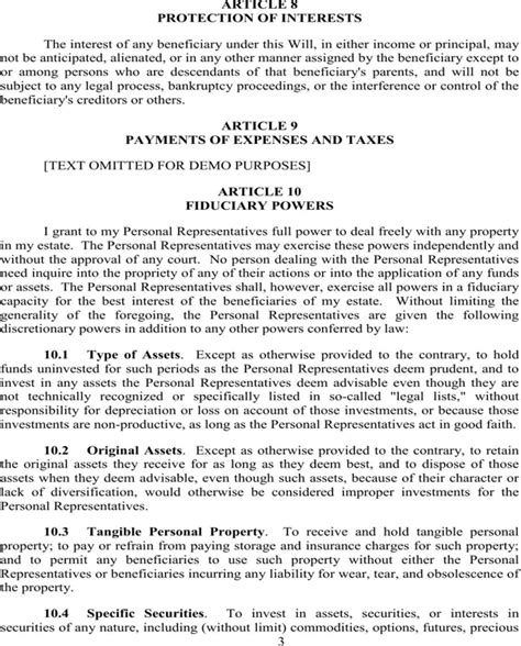 Download Maryland Last Will And Testament Sle For Free Page 8 Formtemplate Last Will And Testament Template Maryland Free