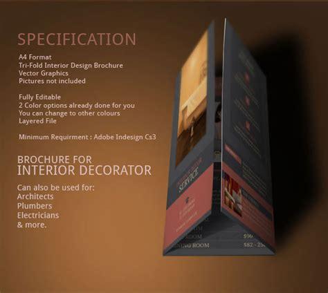 interior design brochure template modern design  behance