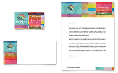 Humanitarian Project Template Free Letterhead Template Word Publisher Microsoft