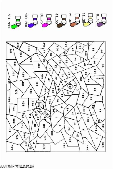 imagenes con operaciones matematicas para colorear pintar con numeros imagui