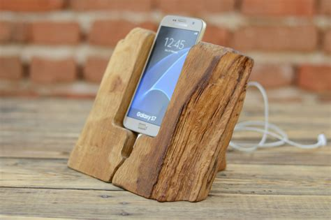 Wooden For Samsung S7 6 samsung galaxy s7 dock handmade phone stand rustic samsung stand samsung galaxy s6 stand