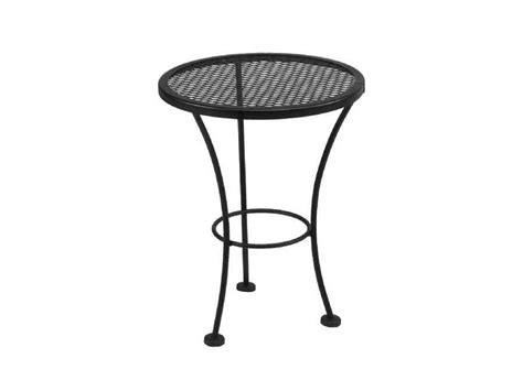 Meadowcraft Wrought Iron 16 Round Mesh Top End Table Wrought Iron Patio Table