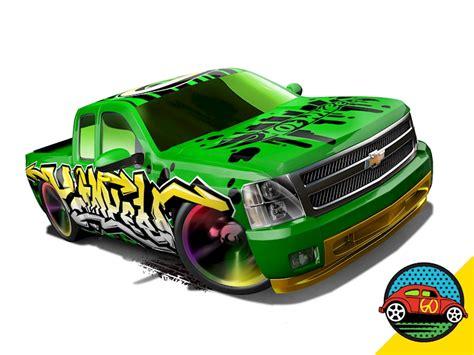 Hotwheels Chevy Silverado chevy 174 silverado shop wheels cars trucks race