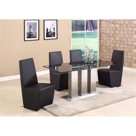 Black Marble Dining Table And Chairs Lorenzo Contemporary Black Marble Dining Table 4 Chairs