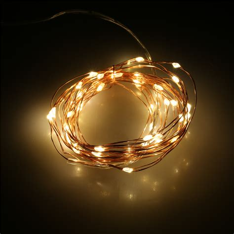 battery string light 5m led starry string light copper wire battery operated