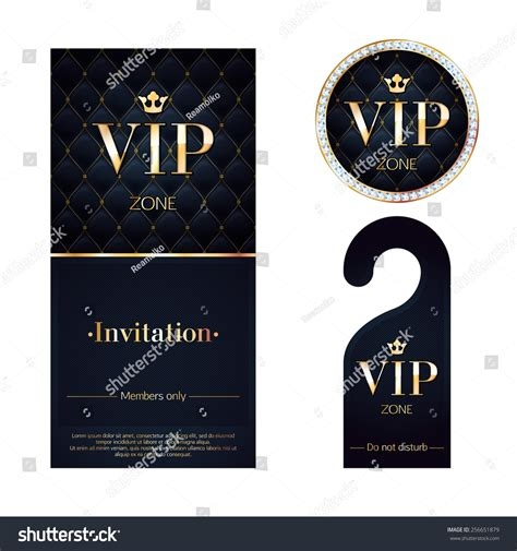 vip card template vip zone members premium invitation card stock vector