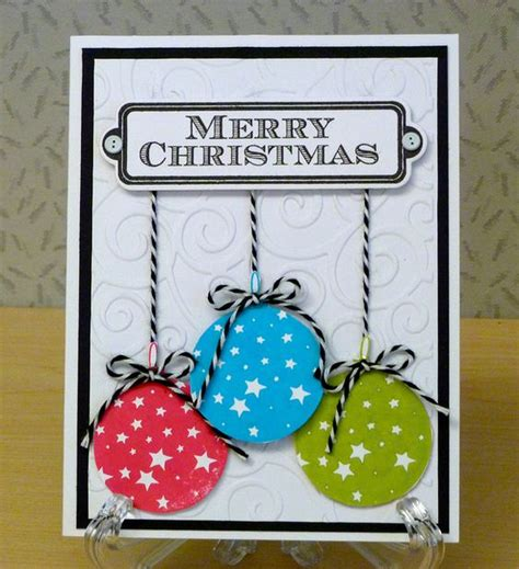 Merry Cards Handmade - merry and ornaments on