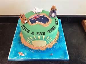 australien kuchen australia themed cake occupation cakes