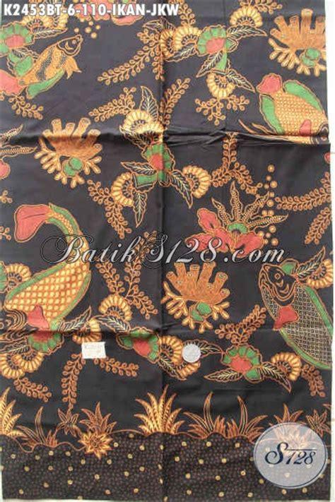 Batik Tulis Pria Motif Ikan kain batik motif ikan jokowi batik halus kombinasi tulis