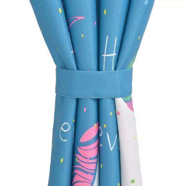 gordijnen blauw verduisterend vidaxl kindergordijnen verduisterend eenhoorn 140x240 cm